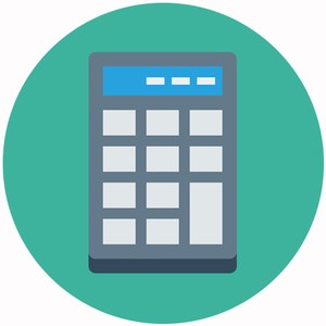 graphic of a calculator representing the business & finance department