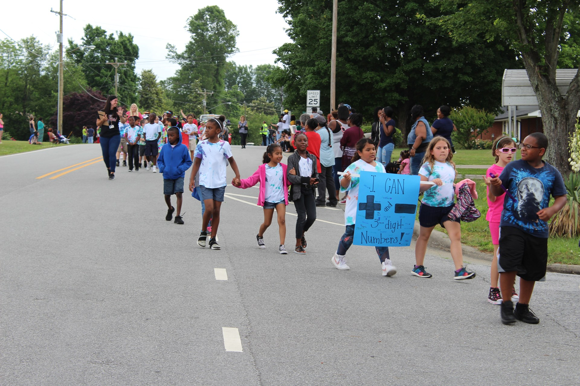 students marching in parade