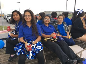 Homecoming Parade with students