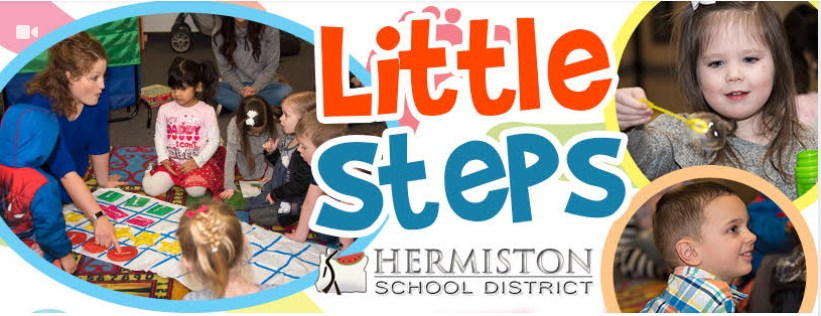 Pictures of preschool age kids doing hands on activities while attending a Little Steps/Little Moves class.