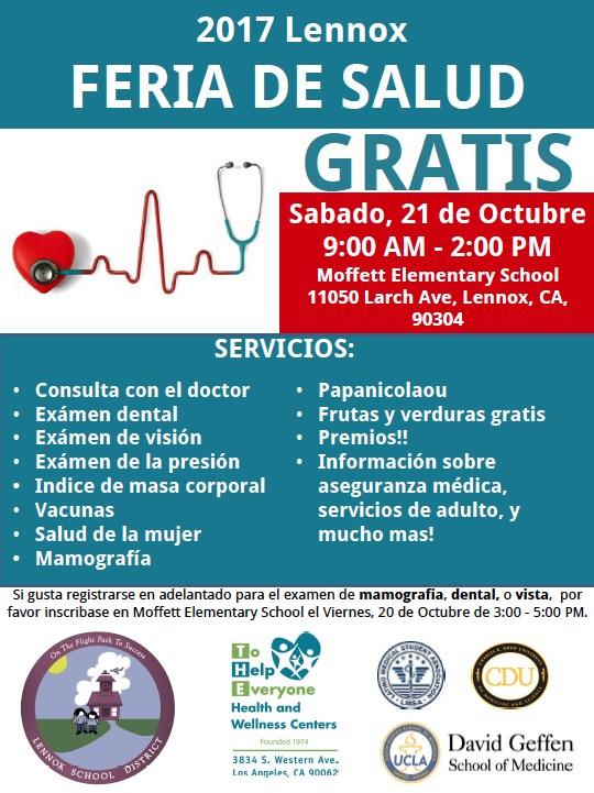 spanish lennox health fair 2017 flyer