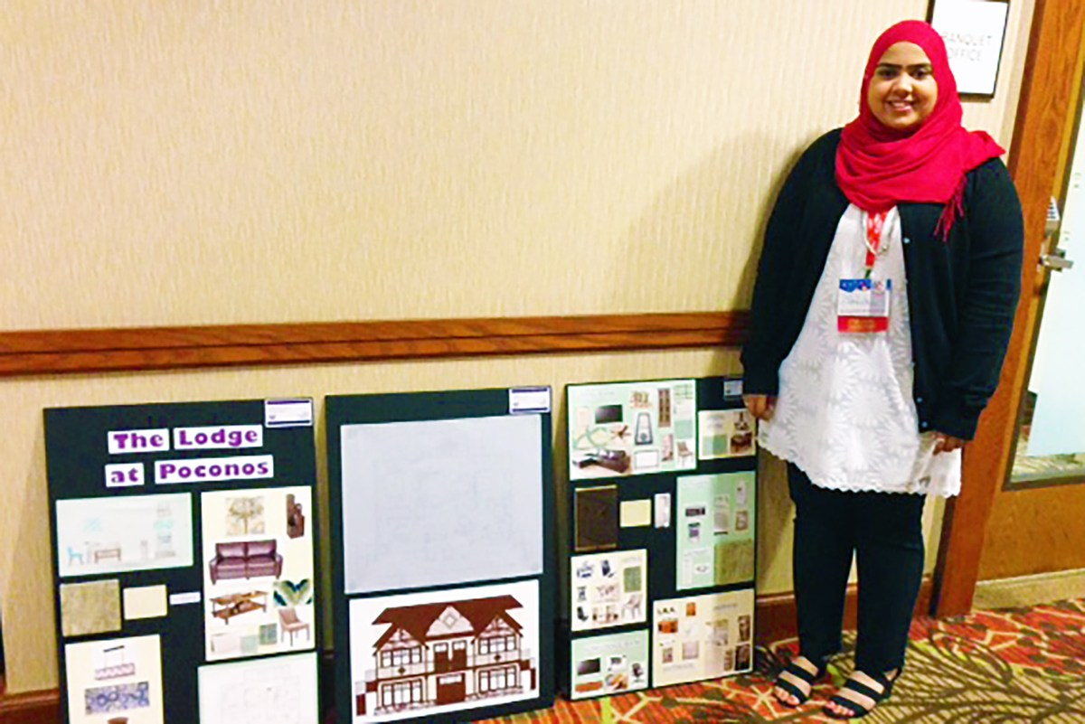 College Station High Schools Samana Askari Won The Interior Design Star Event At Annual Family Career And Community Leaders Of America FCCLA State