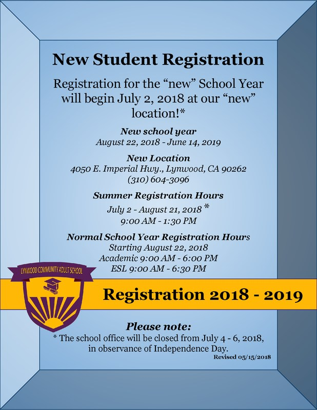 Get ready to register for the new school year ... Featured Photo