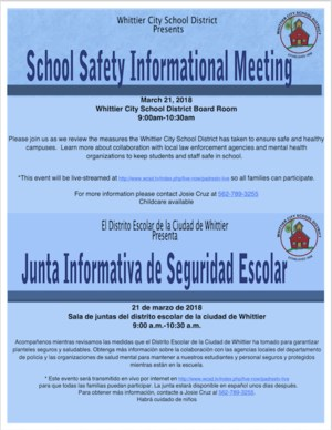 WCSD Safety Meeting Flyer