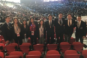 Pictured are the VMHS DECA students at the International Competition.
