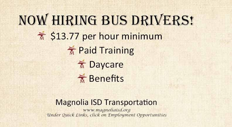 Hiring bus drivers.