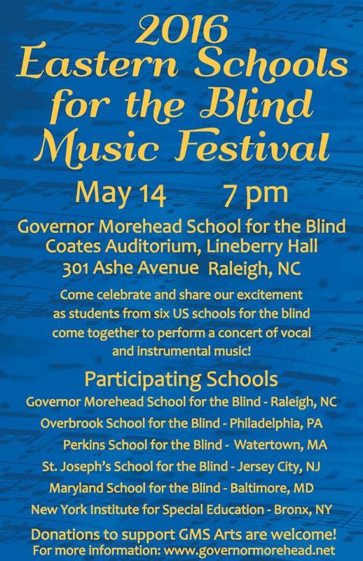 2016 Eastern Schools f/t Blind Music Festival