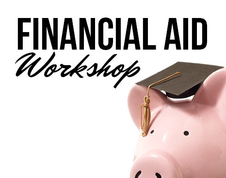 Piggy Bank wearing a Graduating Cap with the words Financial Workshop written.