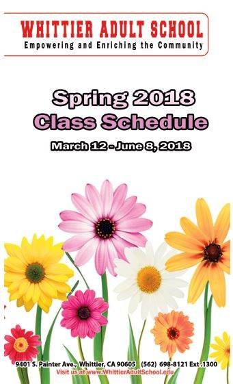 2018 Spring Class Schedule Featured Photo