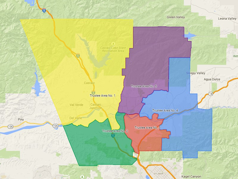 Trustee Area Voting Map