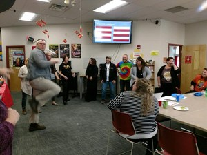Staff participating in The Contest.