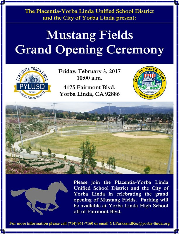 mustang fields opening ceremonies flyer