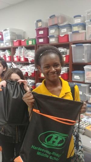 Students at Summer Book Give Away