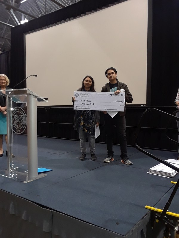 St. Mary's University Research Symposium-Nayab Nobahar and Josue Hernandez win 1st Place! Featured Photo