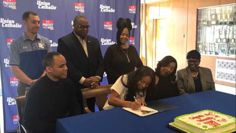 UC track and field star Brianna Ewing signs her National Letter of Intent with the University of Maine Thumbnail Image