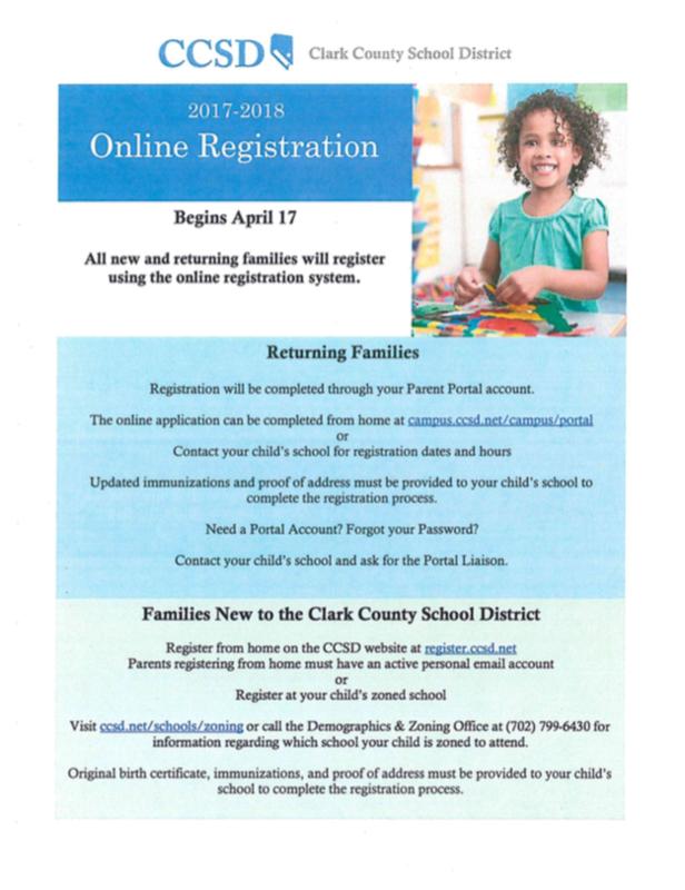 2017-2018 Online Registration Opens April 17, 2017 Thumbnail Image