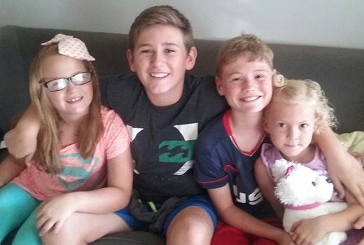 Picture of Mrs. Fernetti's family at home.