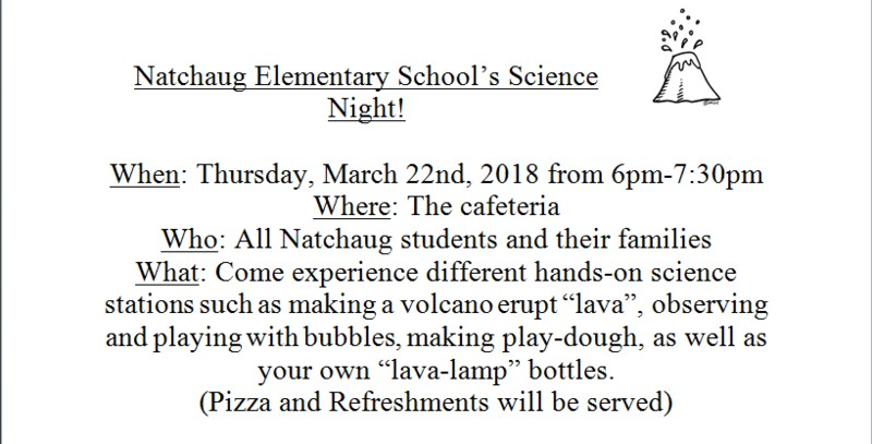 Natchaug School Science Night Thumbnail Image