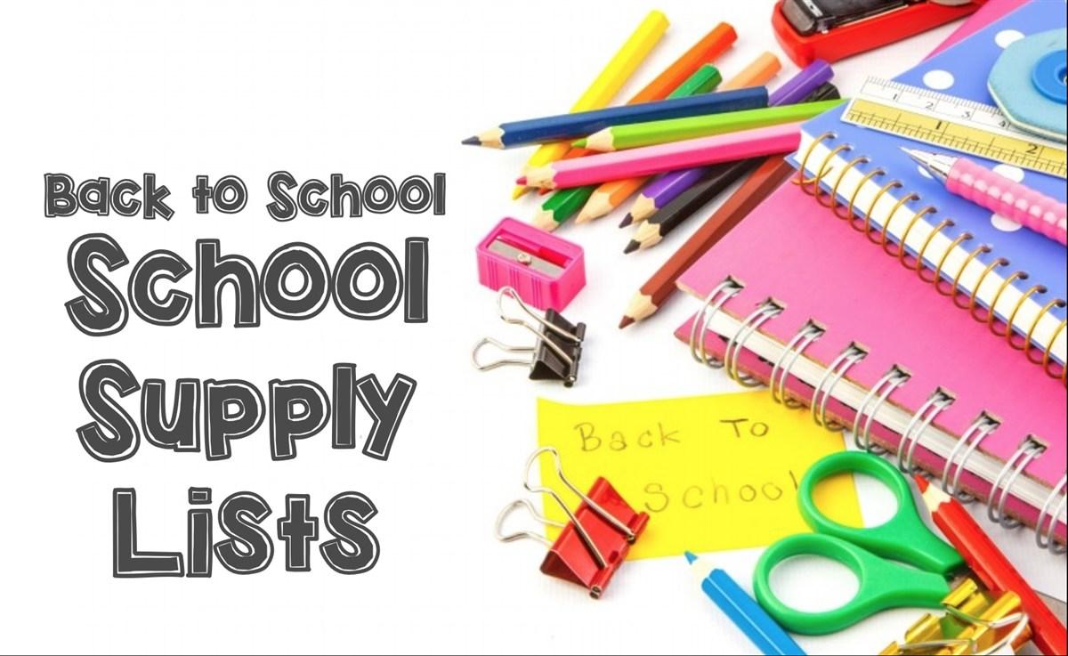School Supplies List image