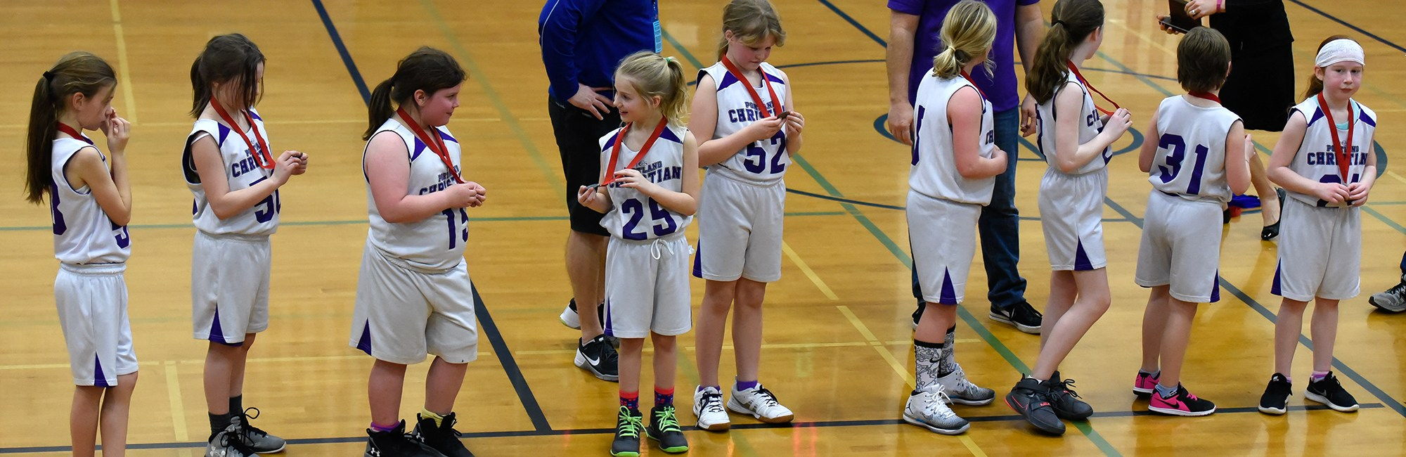 Second and Third Grade Basketball team - 2017 2nd place