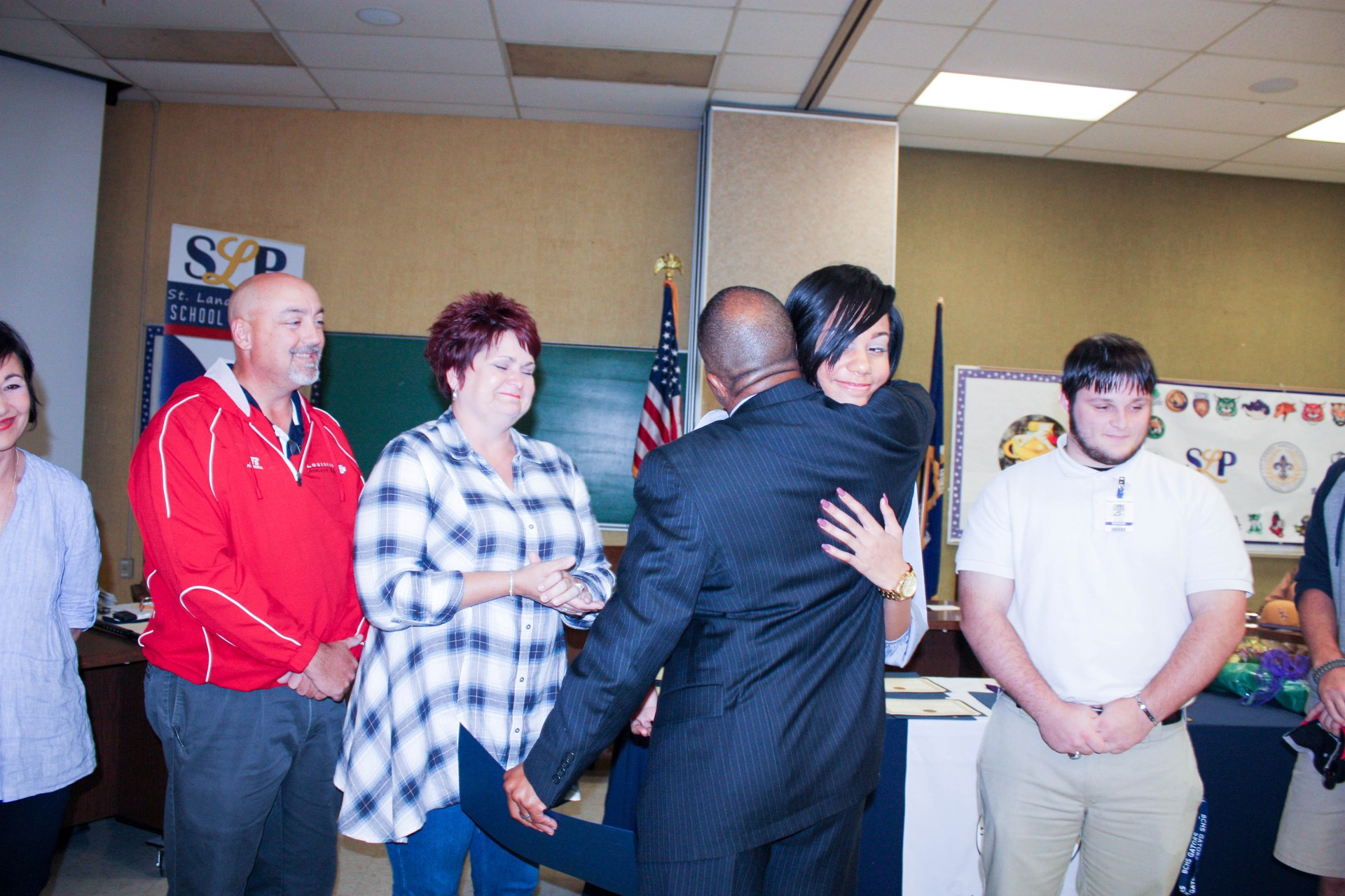 Beau Chene Students whose life was saved.  Honoring local heroes.