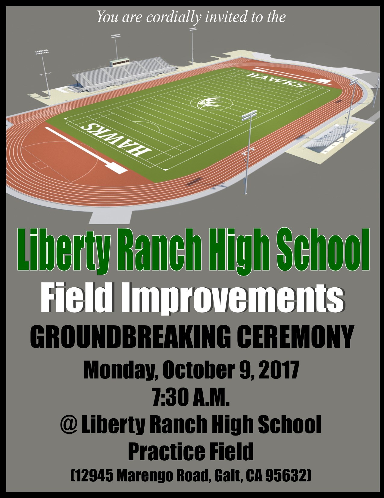 LRHS School Field Renovation Project – About Us – Liberty Ranch High