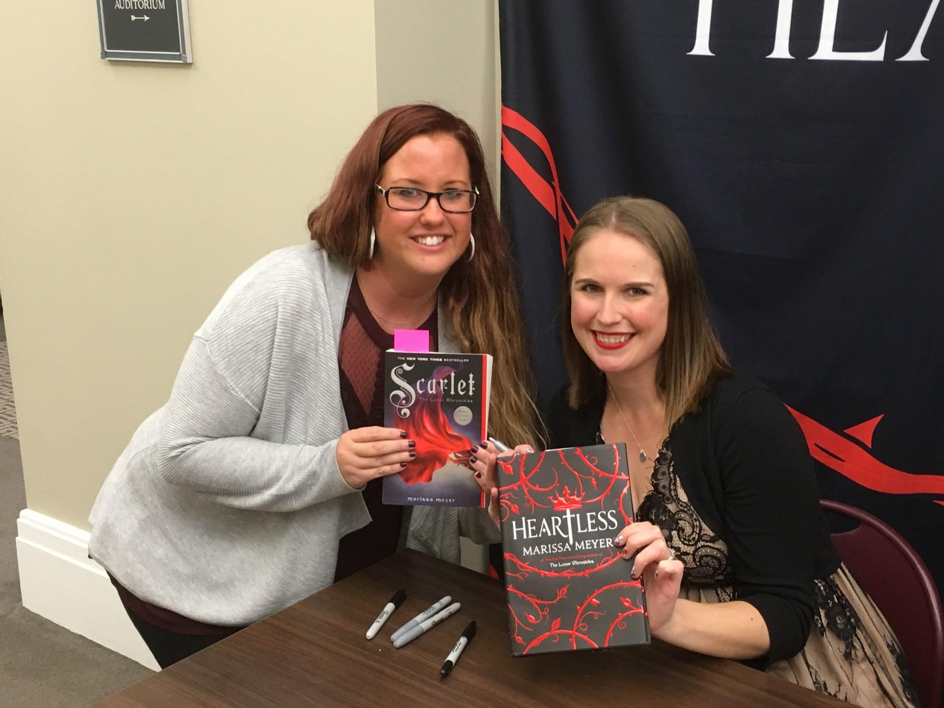 Ms. Rein with Author Marissa Meyer