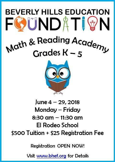 Registration for BHEF Math & Reading Academy Now Open! Thumbnail Image