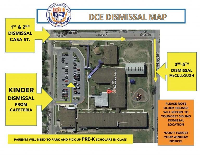 Dr. Cash Elementary Dismissal Map