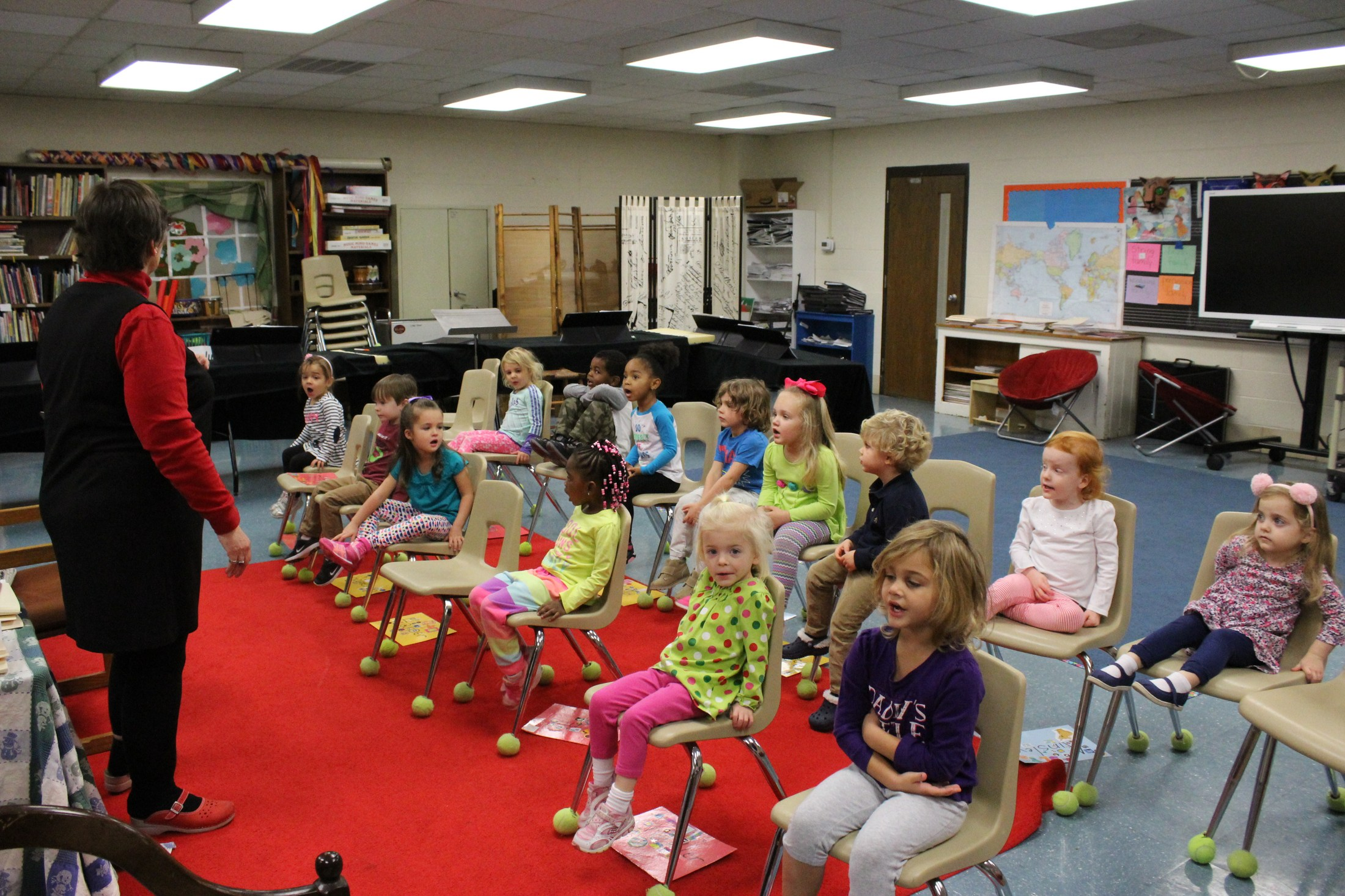 PS3 students in music class