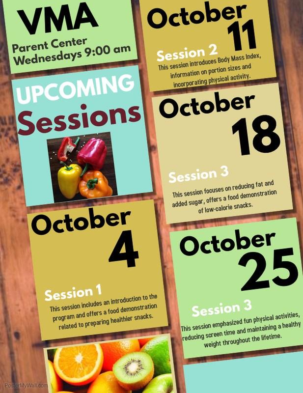 Parent Center October Calendar