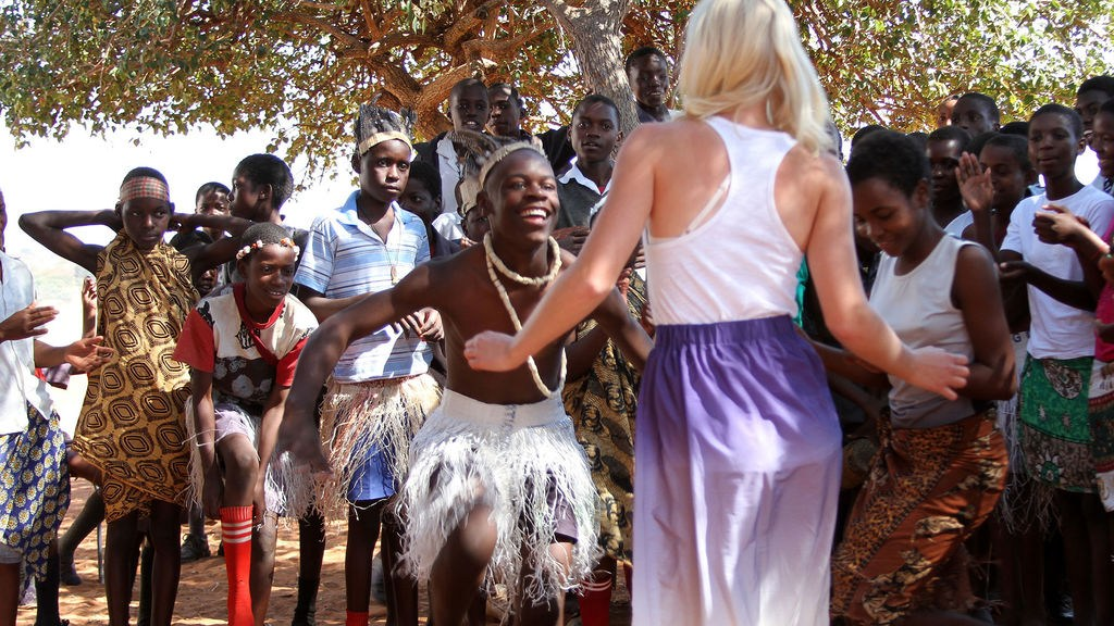 Dancing with local community