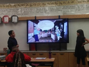 CTA students presenting project