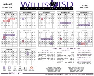 Revised 17-18 School Calendar
