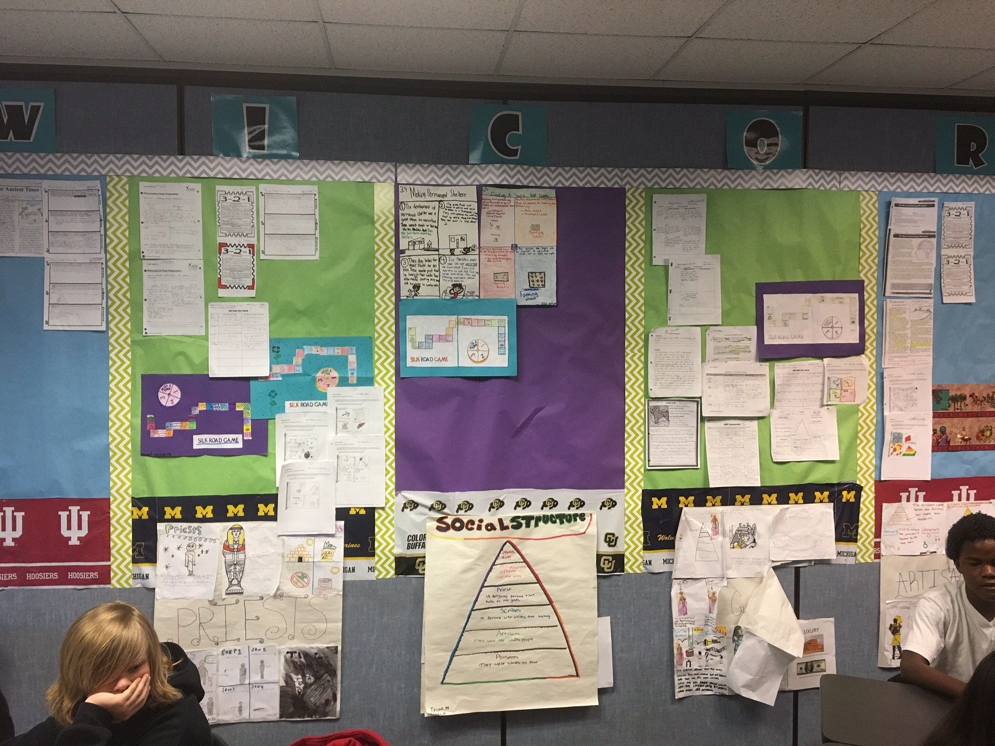 Dartmouth AVID student work examples in the classroom