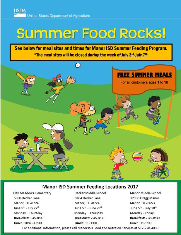 MISD to Provide Free Summer Feeding Program to All Children Thumbnail Image