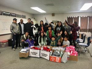 CCA students and families put together 151 packages for the homeless.