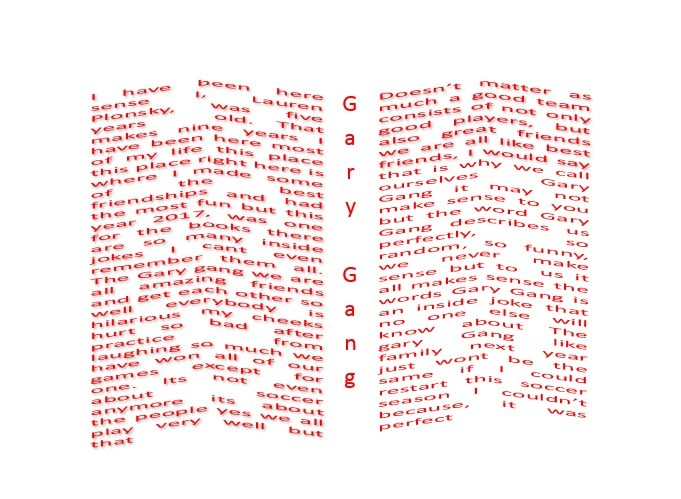 Concrete poem - book