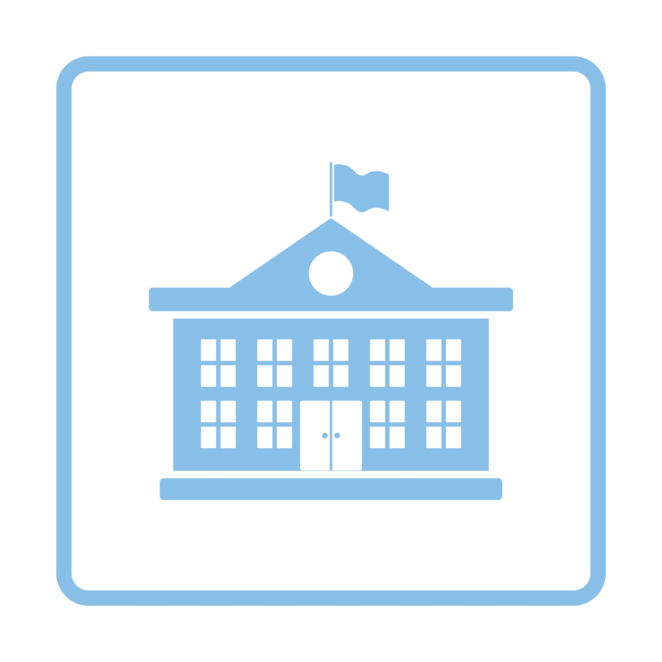 public school building icon