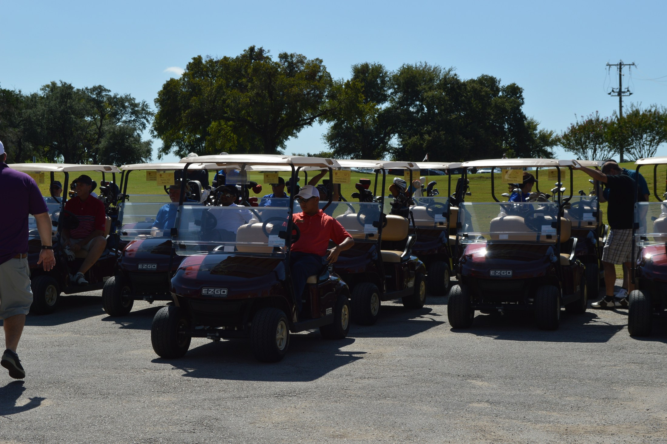 Golf Tournament: Golf carts ready to go
