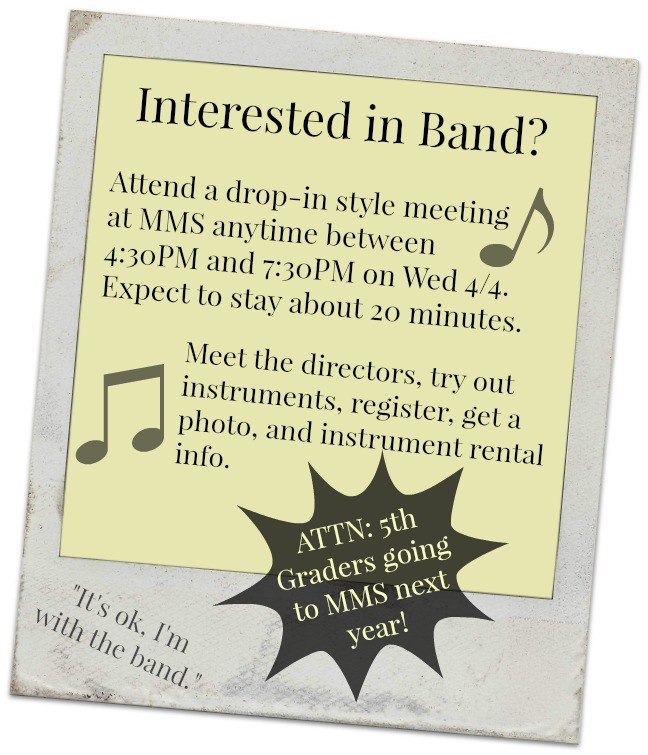 BANDREGISTRATION & INSTRUMENT TRY-OUT Thumbnail Image