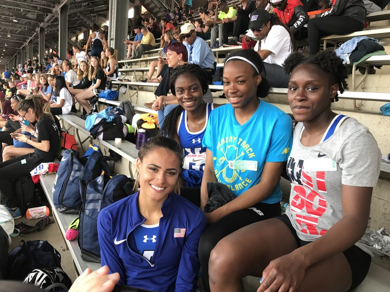 UC girls blaze their way into the Championship of America 4x400 race at the Penn Relays Thumbnail Image
