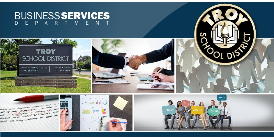 Business Services header.  This is a page design element.