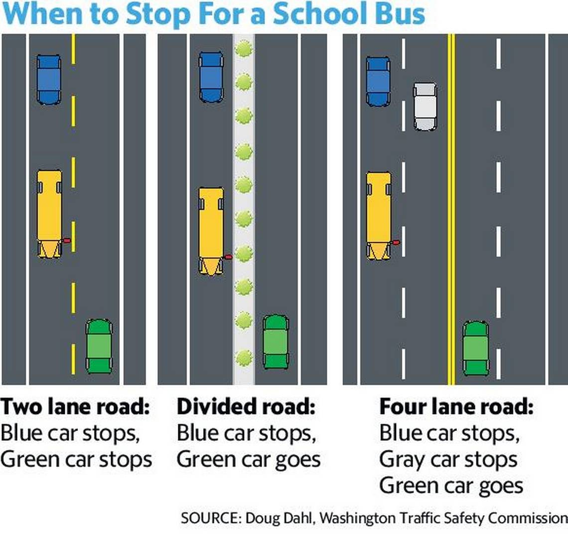Road rules: how to properly stop for a school bus