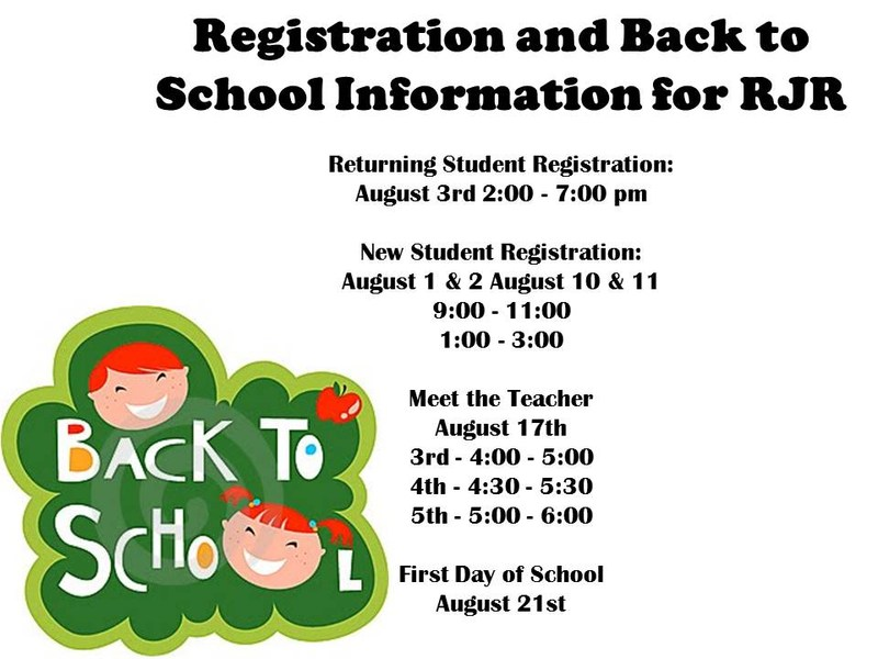 Registration and Back to School Information Thumbnail Image