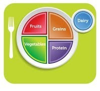 Plate showing good nutrition