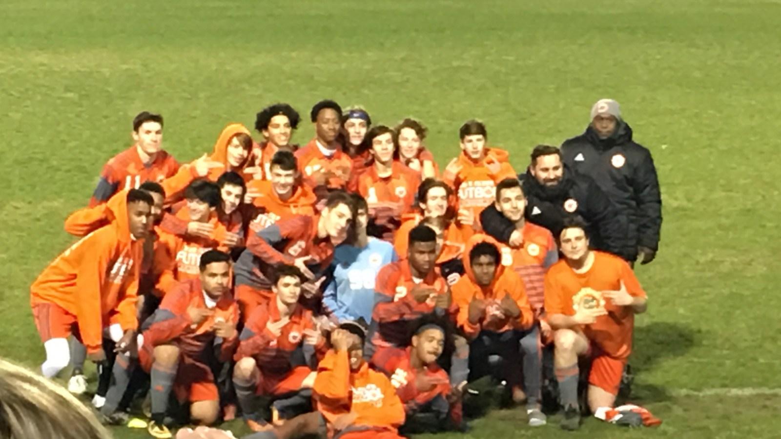 Boys Soccer Team beat Terrebonne High School 2 to1.