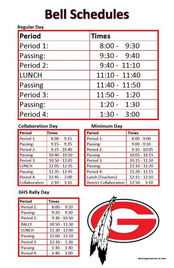 GHS Bell Schedule