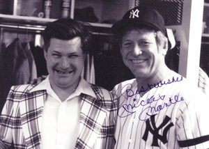Ed with Mickey Mantle