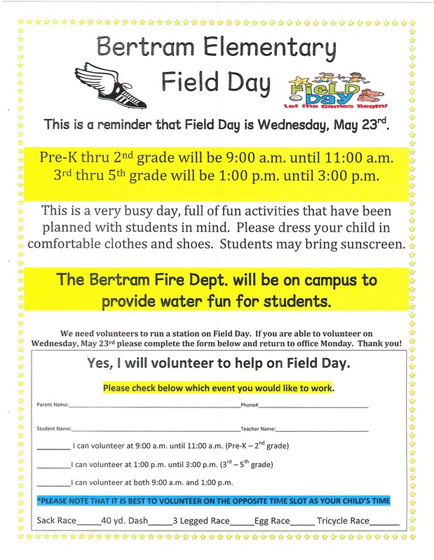 FIELD DAY - Wednesday, May 23rd Thumbnail Image